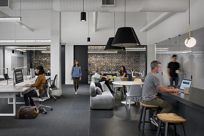 How do we create meaning in todays office spaces huntsman at workplaces for argonaut and quantcast both in san francisco ca mobile technology allows employers to offer a choice of settings to support a variety malvernweather Image collections